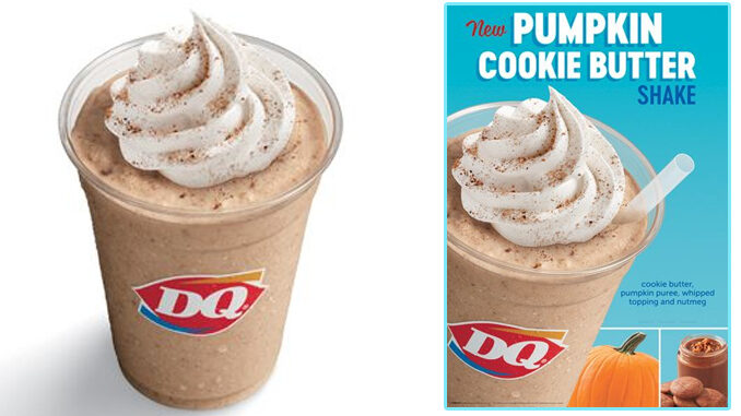 Dairy Queen Unveils New Pumpkin Cookie Butter Shake