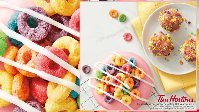 Tim Hortons Adds New Froot Loops Dream Donut And Timbits