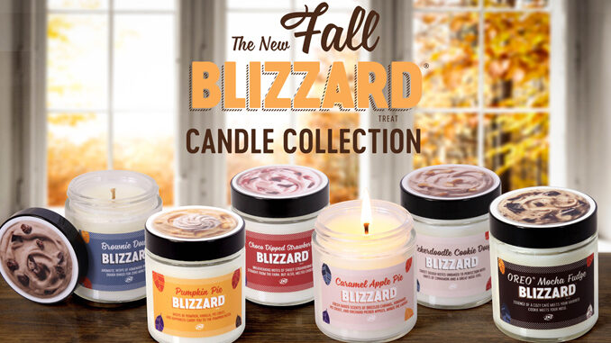 Dairy Queen Unveils New Blizzard-Scented Candles For Fall 2020