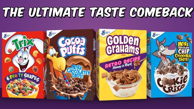 General Mills Brings Back Cocoa Puffs, Cookie Crisp, Trix, And Golden Grahams Retro Recipes