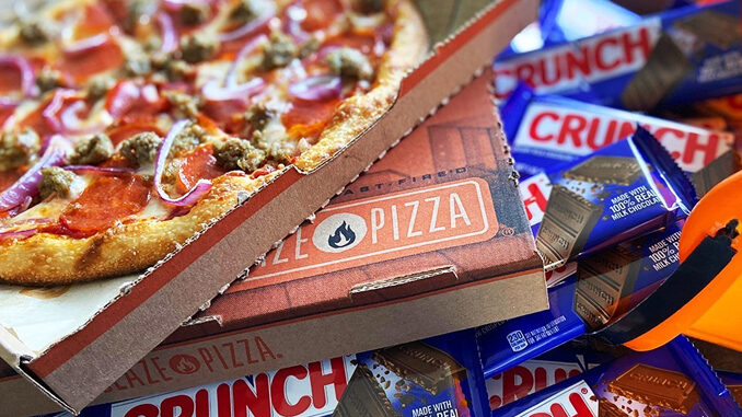 Blaze Pizza Is Giving Away Free Full-Size Crunch Candy Bars On October 31, 2020