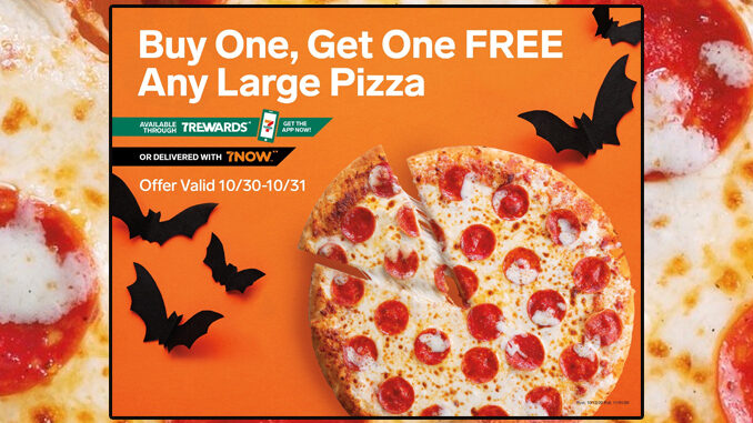 Buy One Large Pizza, Get One Free At 7-Eleven From October 30-31, 2020