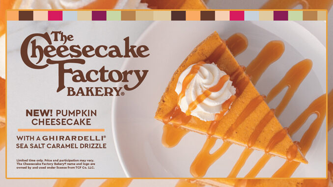Fazoli S Brings Back Pumpkin Cheesecake Made By The Cheesecake Factory Bakery Chew Boom