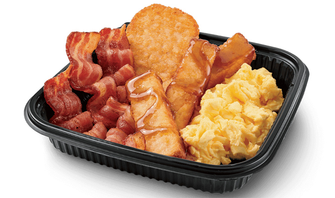 Jumbo Breakfast Platter with French Toast Sticks and Bacon