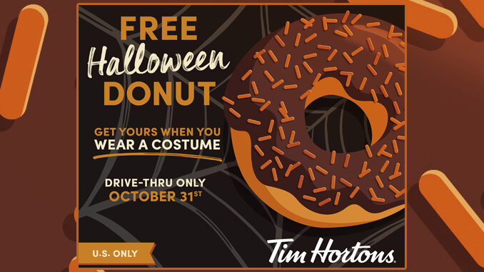 Wear A Costume Get A Free Halloween Donut At Tim Hortons On October 31, 2020