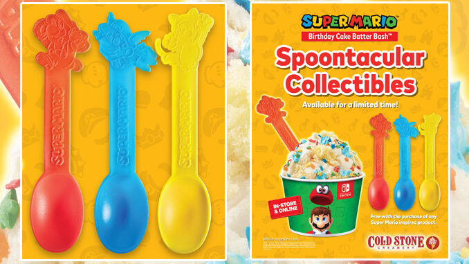 Cold Stone Creamery Releases New Super Mario-Themed Collectible Spoons
