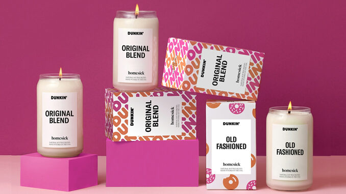 Dunkin' Brings Back Coffee And Donut Scented Candles