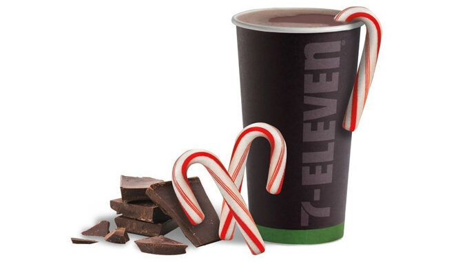 7-Eleven Pours New Candy Cane Cocoa For The 2020 Holiday Season