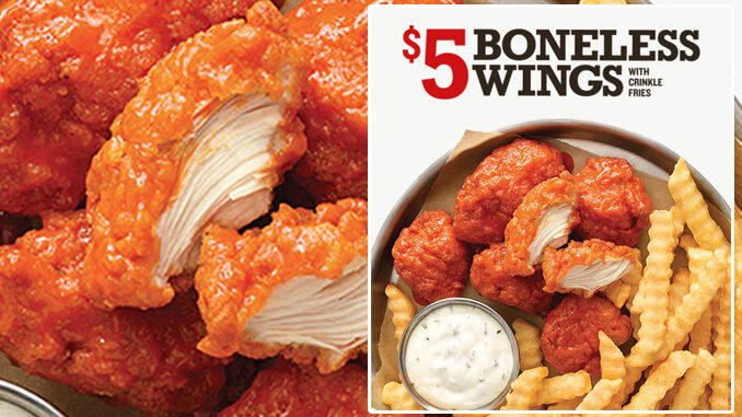 Arby's Spotted Testing New Boneless Wings And Crinkle Fries In Select Markets