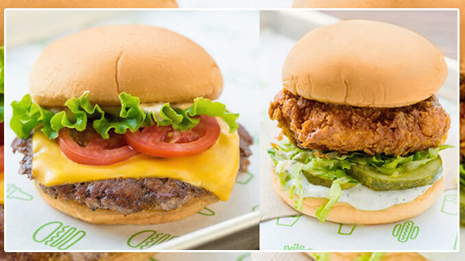 Buy One, Get One Free Burger Or Chicken Sandwich Via The Shake Shack App Through January 3, 2021