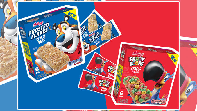 Kellogg's Welcomes New Frosted Flakes And Froot Loops Cereal Bars