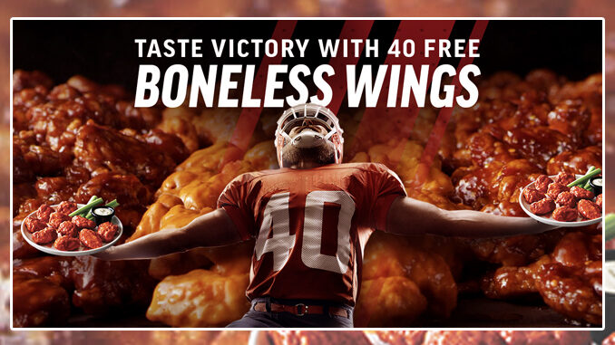 Applebee's Offers 40 Free Boneless Wings With Any Online Order Of $40 Or More On February 7, 2021