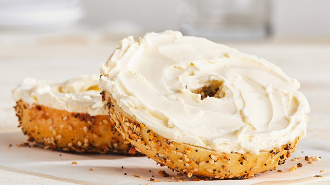 Bruegger's Offers Free Bagel And Cream Cheese With Any App Purchase From Jan. 15 To Jan. 31, 2021