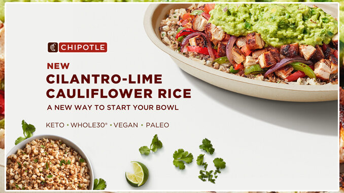 Chipotle Launches New Plant-Based Cilantro-Lime Cauliflower Rice Nationwide