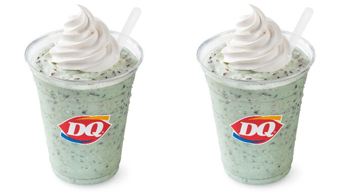 Dairy Queen Spins New Mint Chip Shake