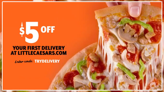 Little Caesars Offers $5 Off Your First Delivery Through January 31, 2021