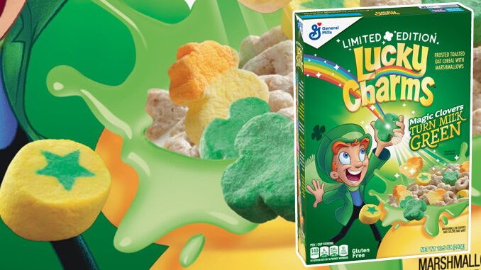 New Limited-Edition Lucky Charms Will Turn Your Milk Green
