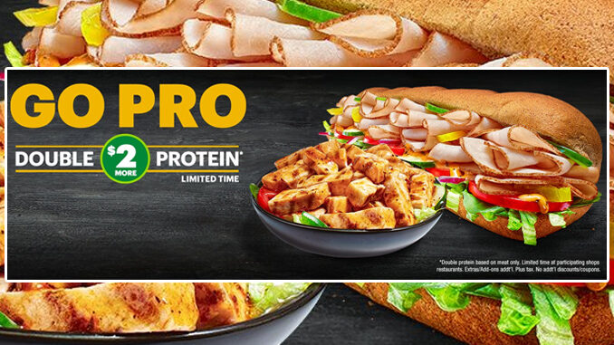 Subway Offers Double The Protein (Meat) For $2 More Deal