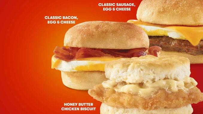 Wendy's Offers 2 For $4 Breakfast Sandwich Deal