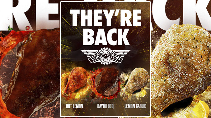 Wingstop Welcomes Back 3 Popular Remix Flavors Through June 21, 2021
