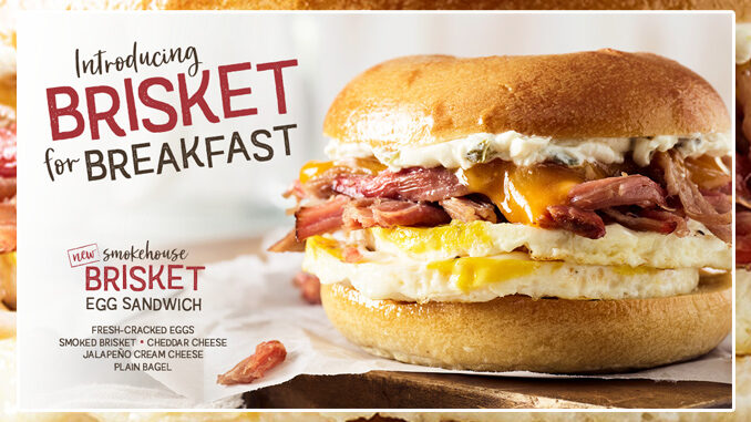 Bruegger's Bagels Reveals New Smokehouse Brisket Egg Sandwich