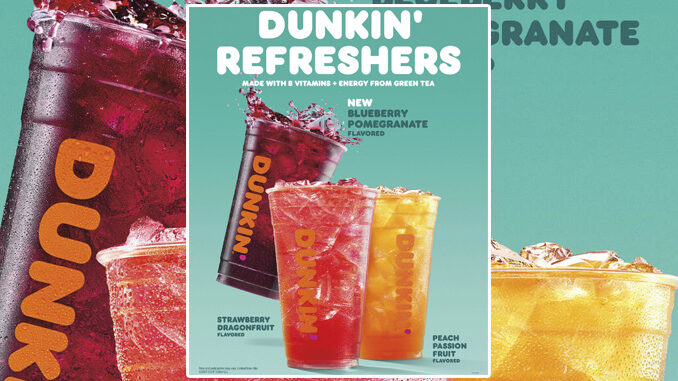 Dunkin' Pours New Blueberry Pomegranate Refresher Flavor