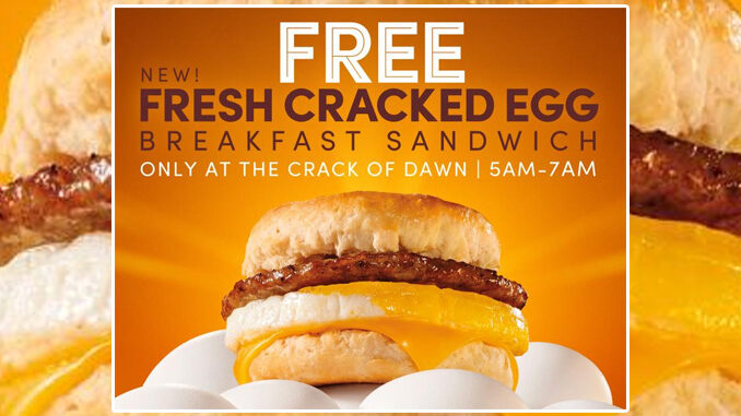 Free New Fresh Cracked Egg Breakfast Sandwich At Tim Hortons From March 14 To March 21, 2021