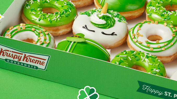 Krispy Kreme Launches New Luck O' The Doughnuts Collection For St. Patrick's Day 2021
