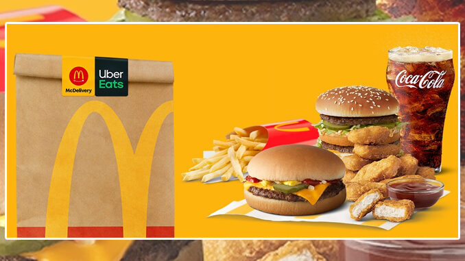 McDonald's Offers Free Delivery With Uber Eats On Orders Of $20 Or More Through March 21, 2021