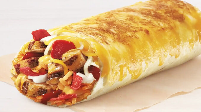 Taco Bell Is Testing A New Chicken Enchilada Grilled Cheese Burrito