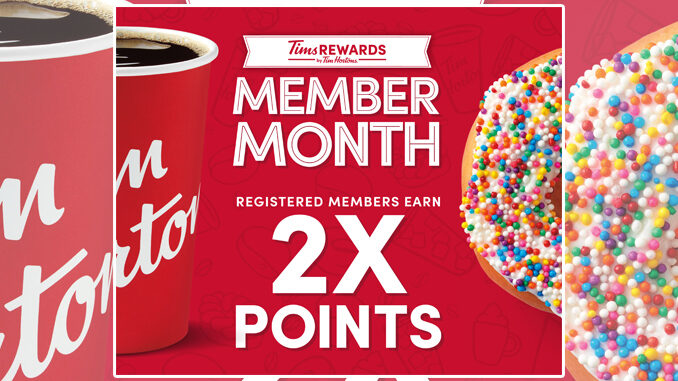 Tim Hortons Offers Rewards Members Double Points From March 3 Through March 31, 2021