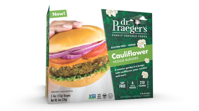 Dr. Praeger's Introduces New Cauliflower Veggie Burger