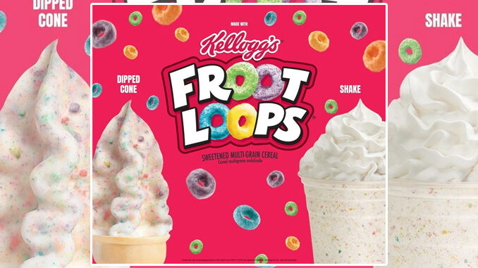 Wienerschnitzel Welcomes Back Froot Loops Dipped Cone And Shake