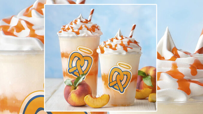 Auntie Anne's Welcomes Back Peach Lemonade Frost For A Limited Time