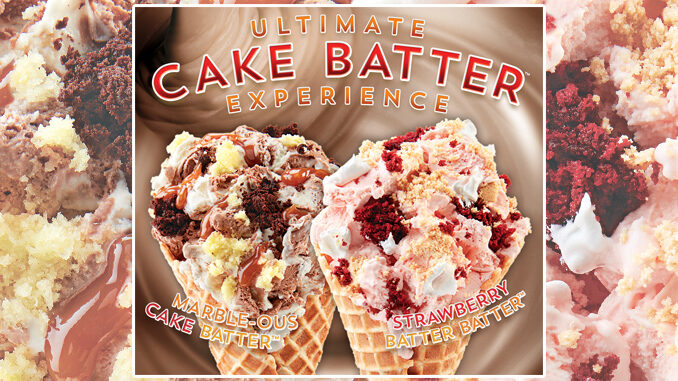 Cold Stone Creamery Adds New Strawberry Cake Batter Ice Cream And New Marbled Cake Batter Ice Cream