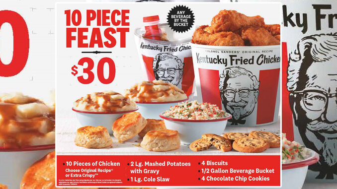 KFC Offers New $30 10-Piece Feast Starting May 28, 2021