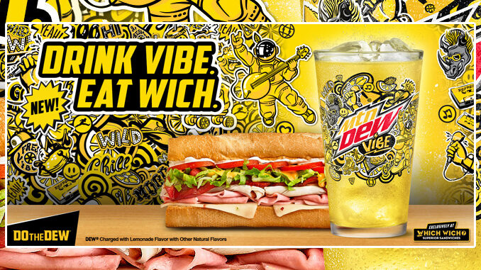 New Mountain Dew Vibe Available Exclusively At Which Wich