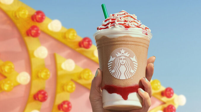 Starbucks Debuts New Strawberry Funnel Cake Frappuccino As Part Of 2021 Summer Menu