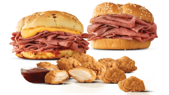 Arby's Refreshes 2 For $6 Everyday Value Menu With New Options Including Premium Chicken Nuggets And More
