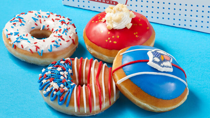 Krispy Kreme Introduces New Fourth Of July Doughnut Collection