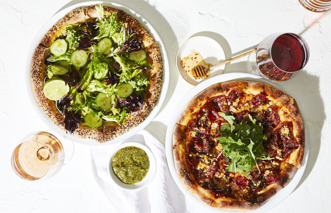 New California-inspired pizzas