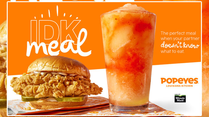 Popeyes Introduces New 'I Don't Know Meal' For Undecided Chewers