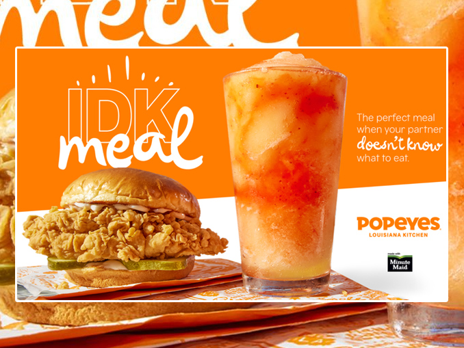 Popeyes Introduces New 'I Don't Know Meal' For Undecided Eaters - Chew Boom