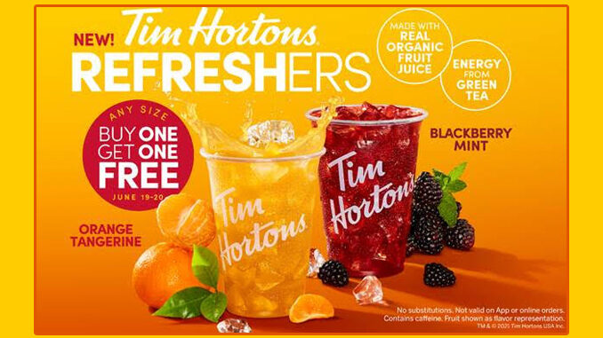 Tim Hortons Introduces New Refresher Beverages