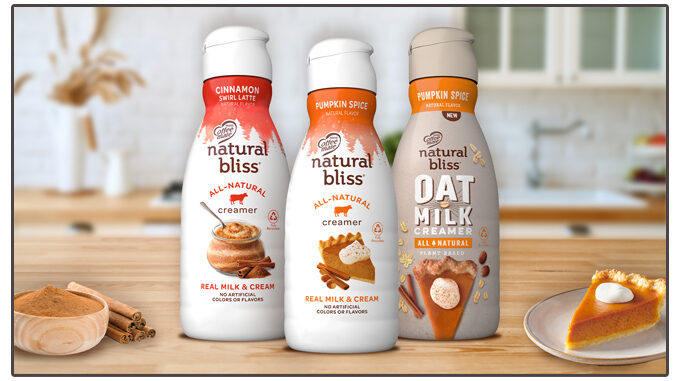 Coffee Mate Unveils New Natural Bliss Pumpkin Spice Flavored Oat Milk Creamer As Part Of 2021 Fall Creamer Lineup