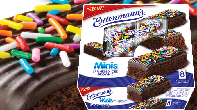 Entenmann's Introduces New Minis Sprinkled Iced Brownies