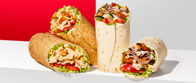 New Chicken Caesar Wrap and new Beefy Ranch Wrap