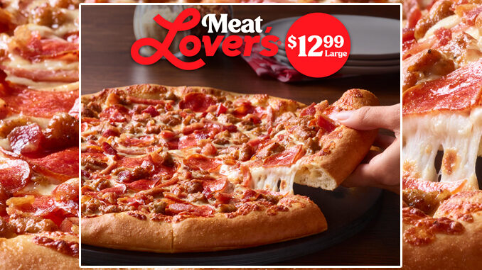 Pizza Hut Offers Large Meat Lover's Pizza For $12.99 For A Limited time