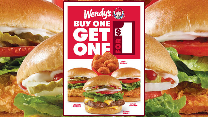 Wendy's Offers Buy One, Get One For $1 Deal From July 12 Through September 5, 2021