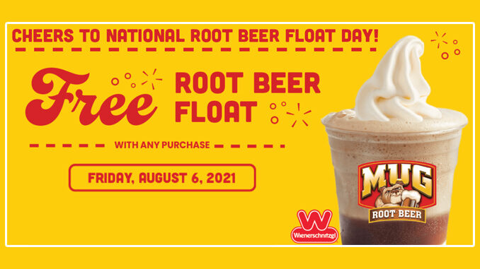 Free Root Beer Float With Any Purchase At Wienerschnitzel And Hamburger Stand On August 6, 2021